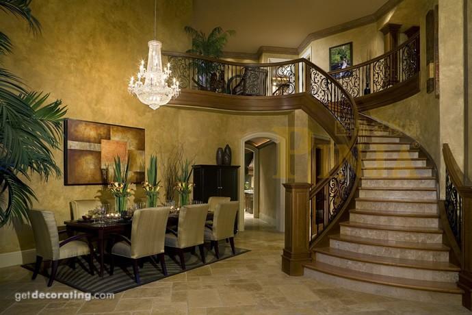 欧式风格的跃层楼梯栏杆设计图