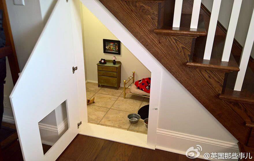 楼梯下空间设计,你想不到的创意-楼梯|上海别墅楼梯