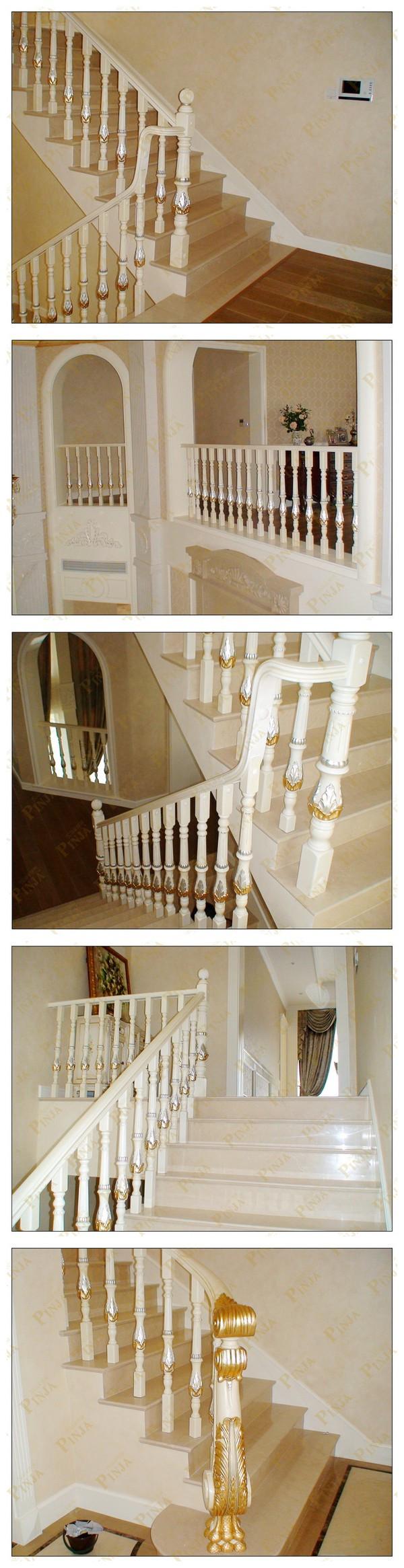 大理石实木楼梯设计全实木吊脚梯中式回廊花式楼梯