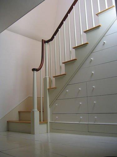 楼梯下的储物抽屉-上海楼梯|实木楼梯|楼梯|别墅楼梯